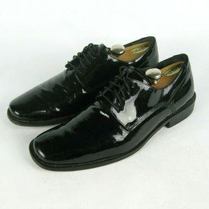 Johnston Murphy Patent Leather Tuxedo Oxfords 9.5